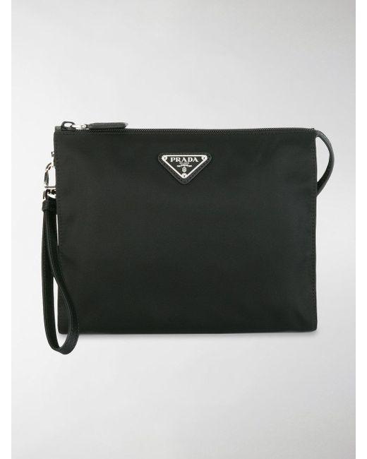 Prada - Black Nylon Wash Bag for Men - Lyst