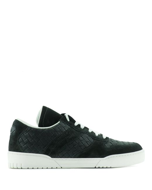 Bottega Veneta | Gray Leather And Suede Sneakers for Men | Lyst