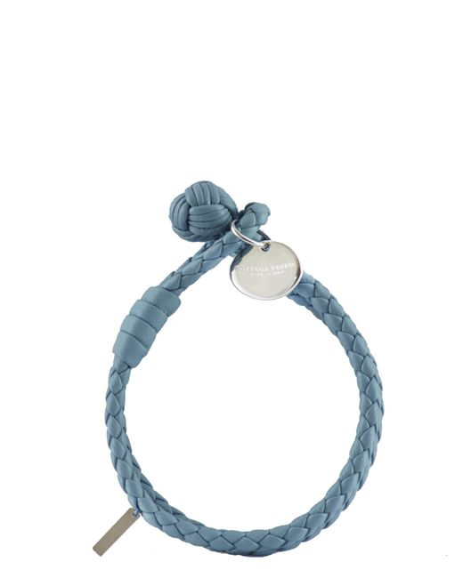 Bottega Veneta | Blue Knotted Leather Bracelet | Lyst