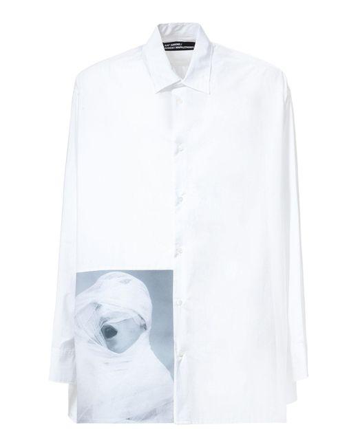 Raf Simons Robert Mapplethorpe White Gauze Cotton Shirt In