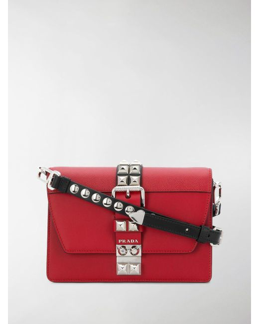 0b075b4a8bc5 Prada Women's Red Elektra Small Leather Shoulder Bag in Red - Lyst
