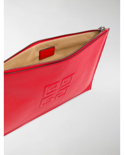 4G logo clutch bag - Red Givenchy dx04s