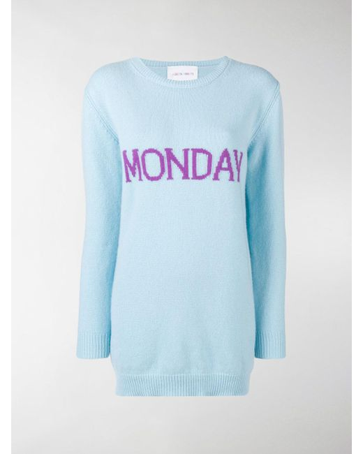 Wednesday sweater dress - Blue Alberta Ferretti Outlet Order Online Sale Very Cheap Shop For Sale Free Shipping Best Sale Buy Cheap Many Kinds Of 0KNDa13rr