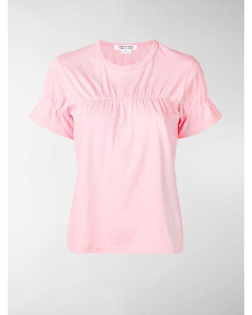 Comme des Garçons - Pink Elasticated Detail T-shirt - Lyst