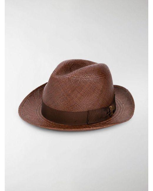 Lyst - Borsalino Classic Panama Hat in Brown for Men - Save 4.5% 1dbab9f62dbb