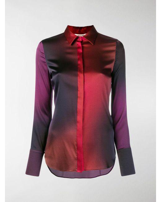 Roberto Cavalli - Red Degrade Georgette Shirt - Lyst