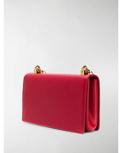 7786429964c9 ... Lyst Dolce   Gabbana - Red Foldover Logo Shoulder Bag ...