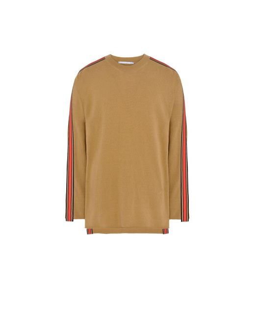 Stella McCartney | Natural Camel Ribbon Trim Knit Jumper for Men | Lyst