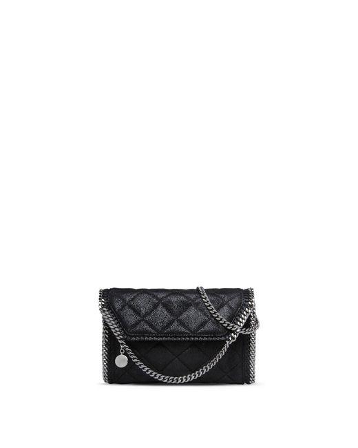 Stella McCartney | Black Falabella Quilted Mini Bag | Lyst