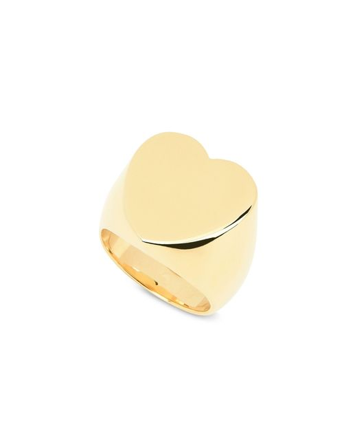 Stella McCartney | Yellow Brass Heart Ring | Lyst