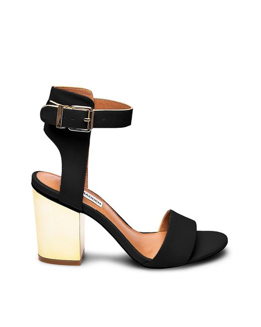 Steve Madden | Black Stecy Two Part Heeled Sandals | Lyst