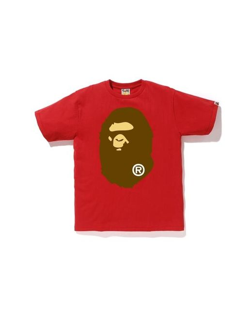 808cf5bf1 Lyst - A Bathing Ape Big Ape Head Tee Red in Red for Men