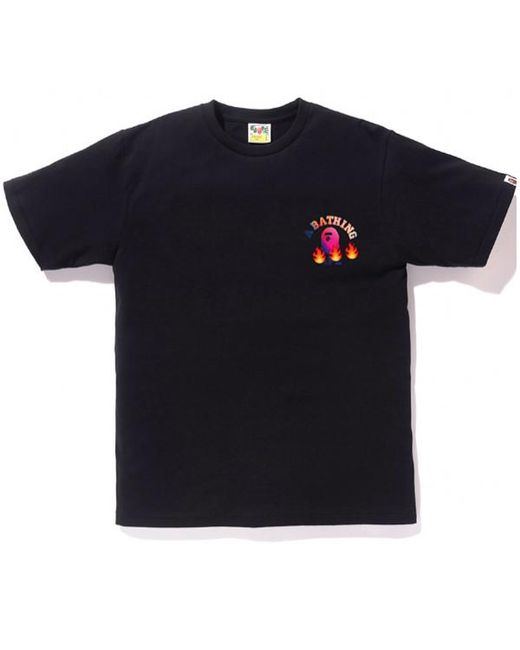 622bc22d Lyst - A Bathing Ape College Emoji Tee Black in Black for Men
