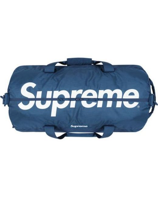 10923af0316b Lyst - Supreme Duffle Bag Teal in Blue for Men