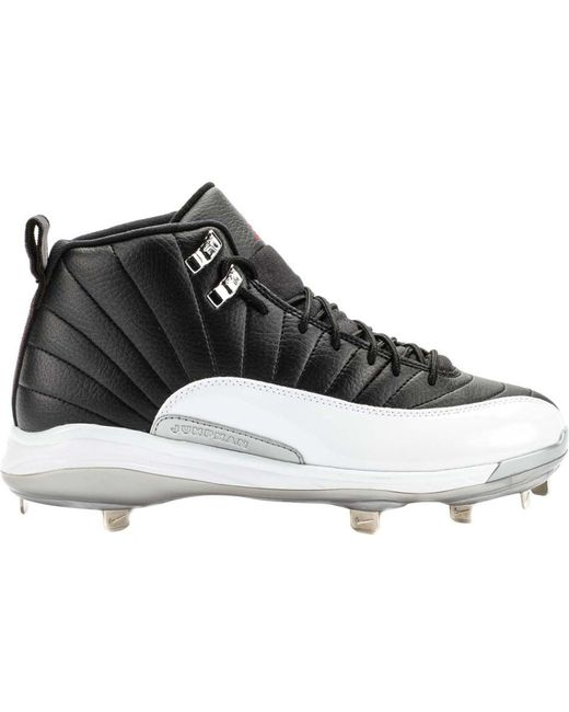 ad3d7025 Nike 12 Retro Metal Cleat Playoffs in Black for Men - Lyst