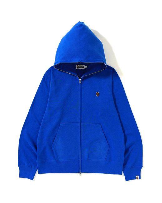0495faa6 A Bathing Ape Silicon Ape Head Full Zip Hoodie Blue in Blue for Men ...
