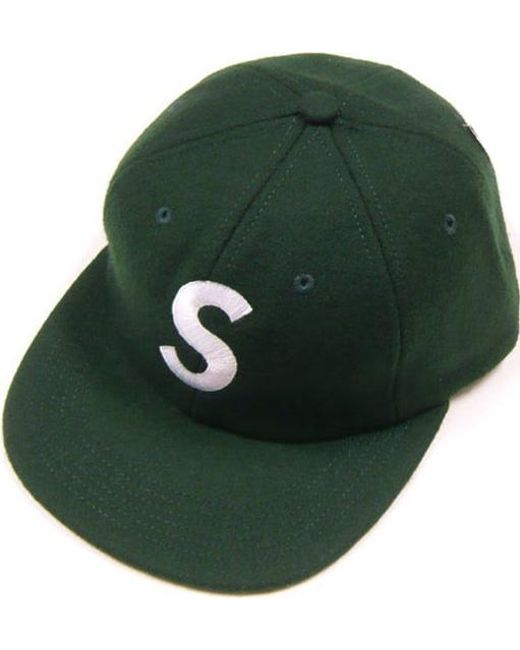 4844e6f6f76 Lyst - Supreme Wool S Logo Hat (fw15) Dark Green in Green for Men