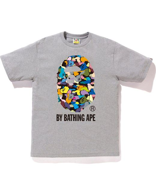 294b69388 Lyst - A Bathing Ape Multi Camo By Bathing Tee Grey in Gray for Men