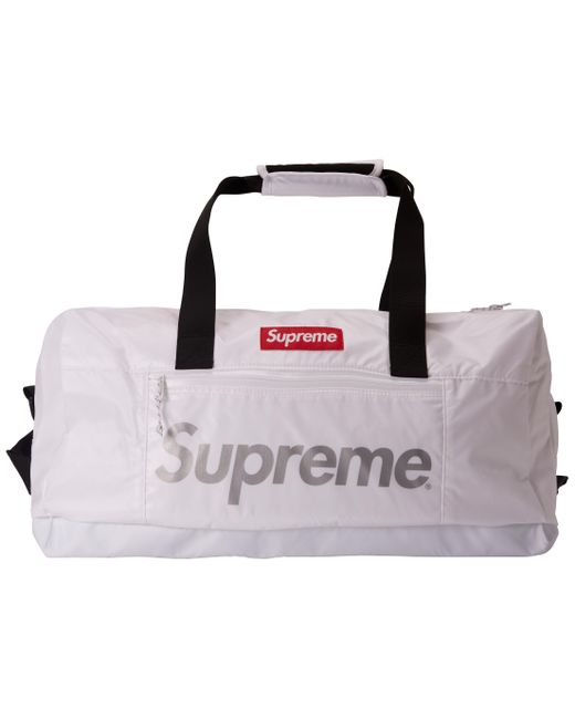 48f0851ada8c Lyst - Supreme Duffle Bag White in White for Men