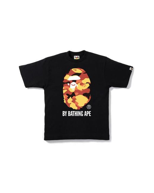 7cc68aca A Bathing Ape 1st Camo By Bathing Tee Black/yellow in Black for Men ...
