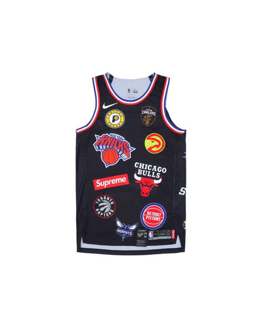 Lyst - Supreme Nike nba Teams Authentic Jersey Black in Black for Men 254cd2e7a