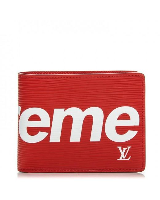 37082bec26d2 Lyst - Supreme Louis Vuitton X Slender Wallet Epi Red in Red for Men