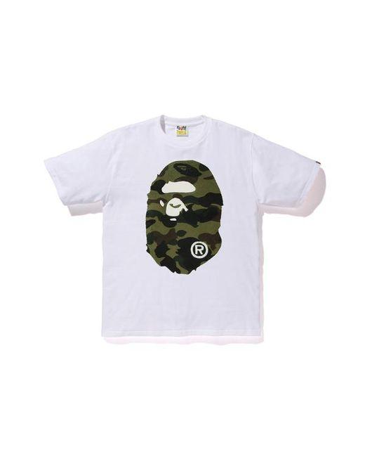 01c6d2b5 A Bathing Ape Boa 1st Camo Big Ape Head Tee White/green in Green for ...