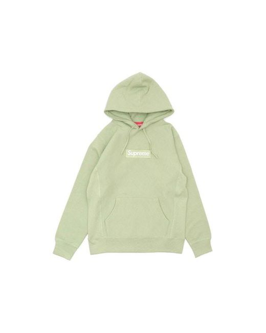 20a24c36a06f Lyst - Supreme Box Logo Hooded Sweatshirt Sage in Green for Men