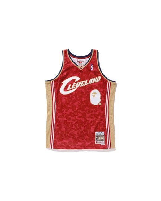 0148747c0177 A Bathing Ape - Red X Mitchell   Ness Cavs Abc Basketball Swingman Jersey  Burgundy for