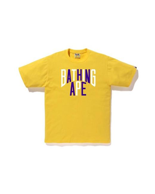 4048703b A Bathing Ape Colors Nyc Logo Tee Yellow in Yellow for Men - Lyst