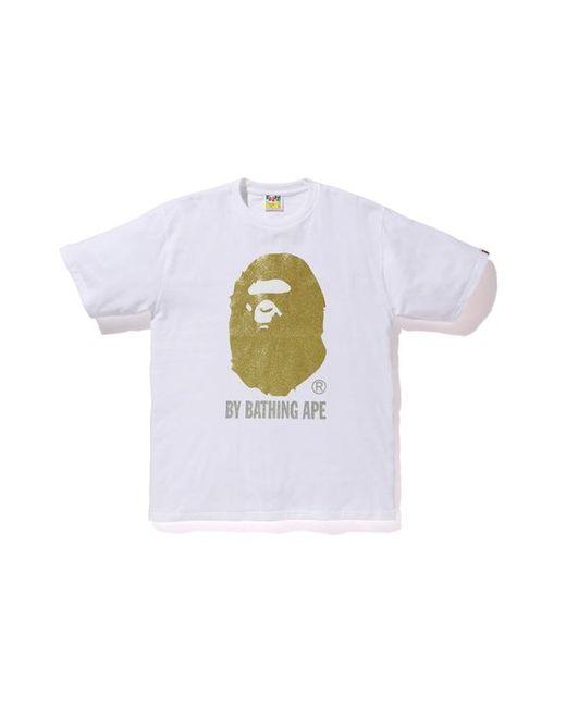 7c1903f8 A Bathing Ape Glitter By Bathing Tee White/gold in White for Men - Lyst