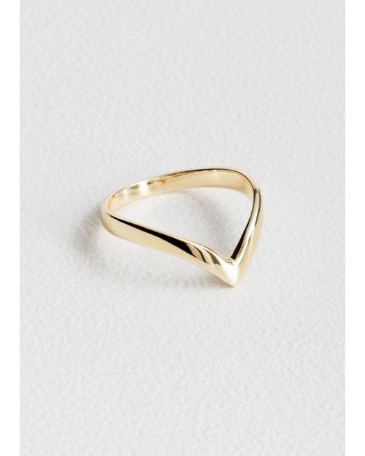 & Other Stories - Metallic Pointed Ring - Lyst