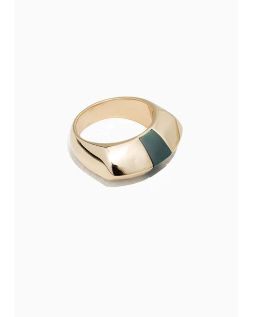 & Other Stories | Metallic Chunky Signet Ring | Lyst