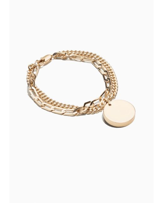 & Other Stories | Metallic Medal Charm Bracelet | Lyst
