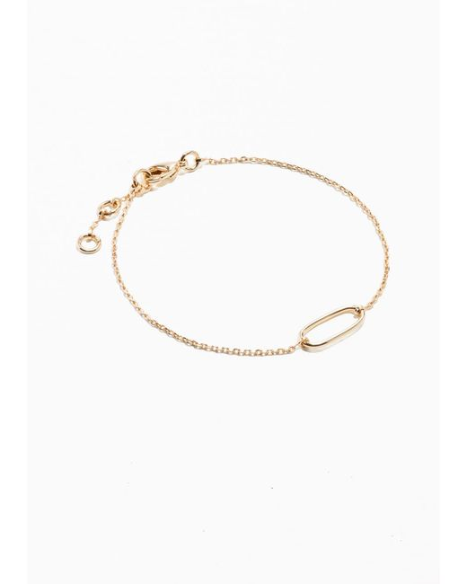 & Other Stories | Metallic Chain Bracelet | Lyst