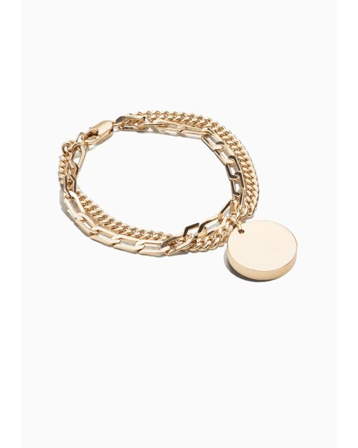 & Other Stories | Metallic Medal Charm Bracelet | Lyst