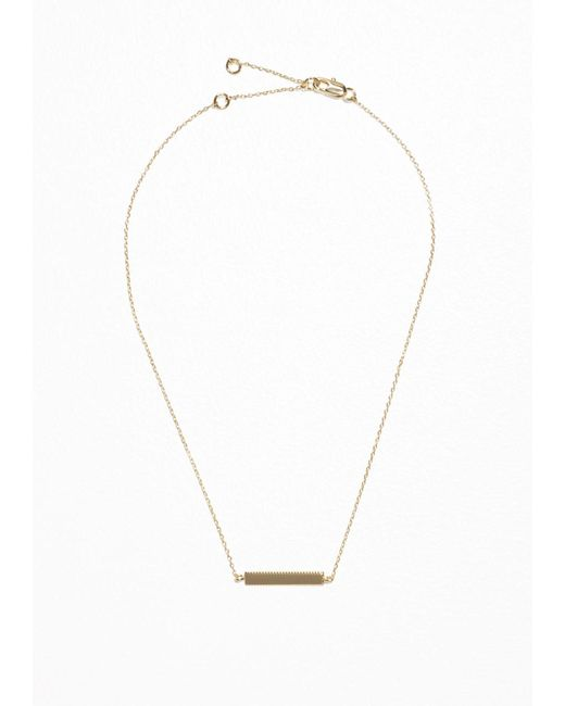 & Other Stories | Metallic Plate Necklace | Lyst