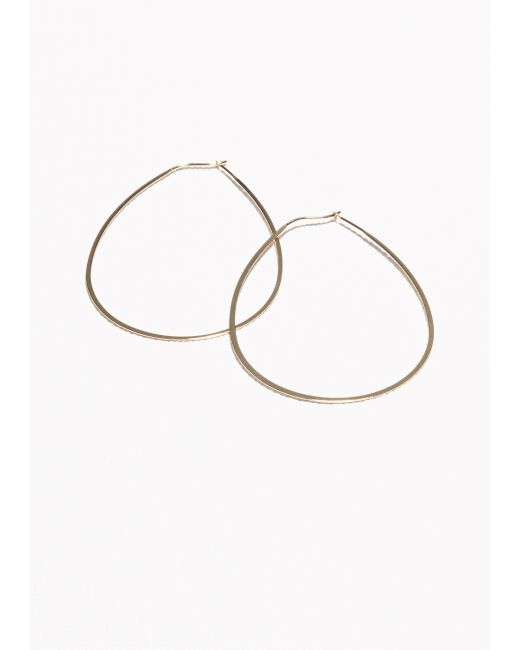& Other Stories | Metallic Droplet Hoop Earrings | Lyst