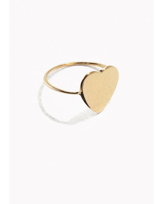 & Other Stories | Metallic Sweetheart Ring | Lyst