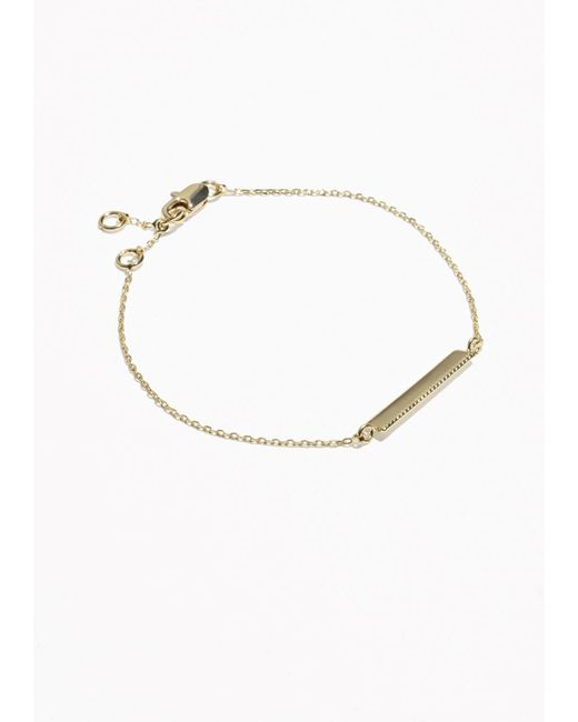 & Other Stories | Metallic Jagged Bar Bracelet | Lyst