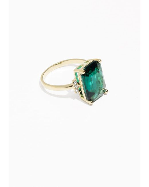 & Other Stories | Green Emerald Ring | Lyst