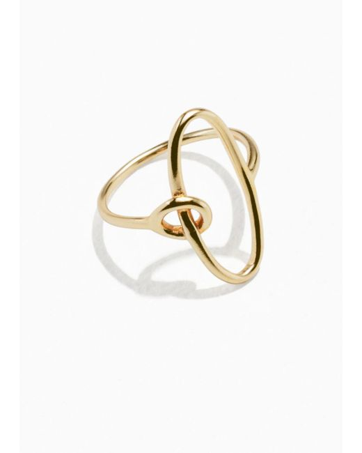 & Other Stories - Metallic Oval Loop Ring - Lyst