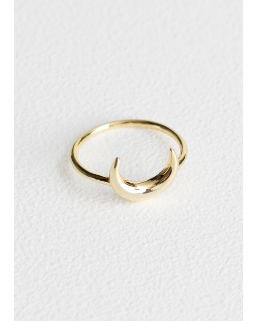 & Other Stories - Metallic Crescent Charm Ring - Lyst