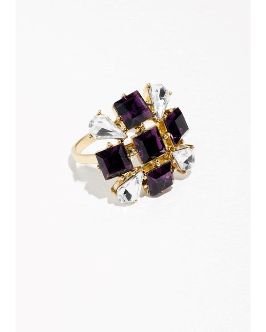 & Other Stories | Purple Glass Crystal Ring | Lyst