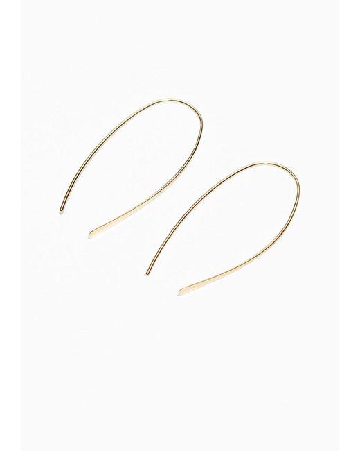 & Other Stories | Metallic Semi-hoop Earrings | Lyst