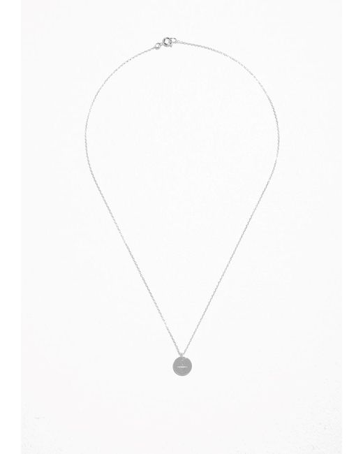 & Other Stories | Metallic Cut Plate Necklace | Lyst
