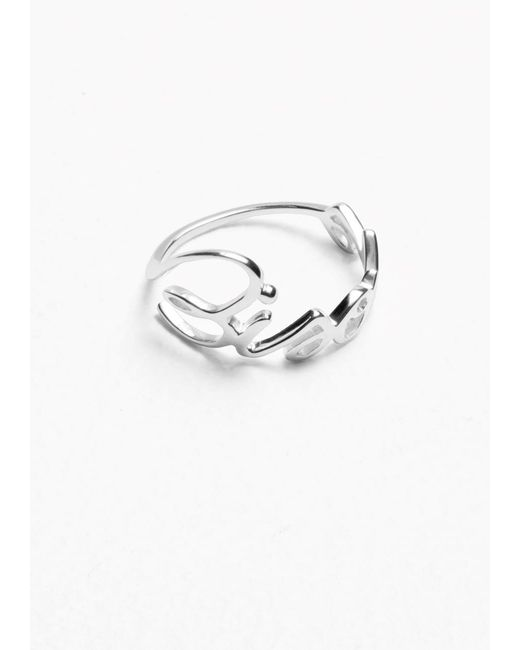 & Other Stories | Metallic Bisous Ring | Lyst