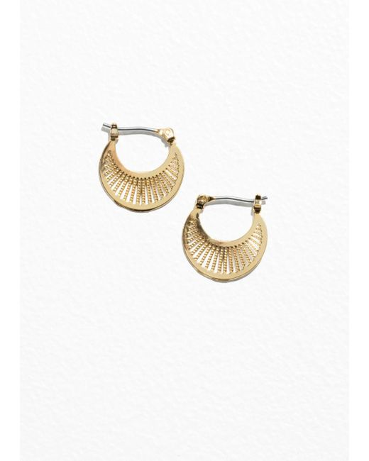 & Other Stories - Metallic Ray Hoop Earrings - Lyst