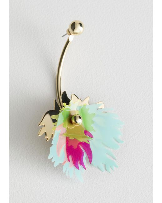 & Other Stories - Multicolor Single Tropical Plant Bar Earring - Lyst
