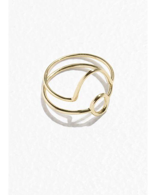 & Other Stories - Metallic Round Stack Ring Set - Lyst